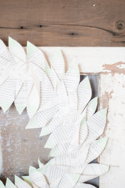 DIY Magnolia Style Book Wreath
