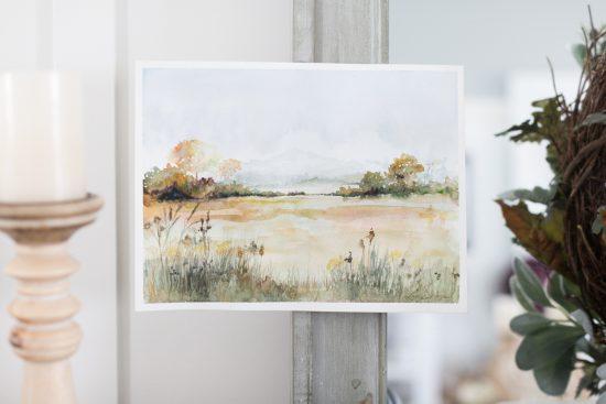 Watercolor Fall Landscape