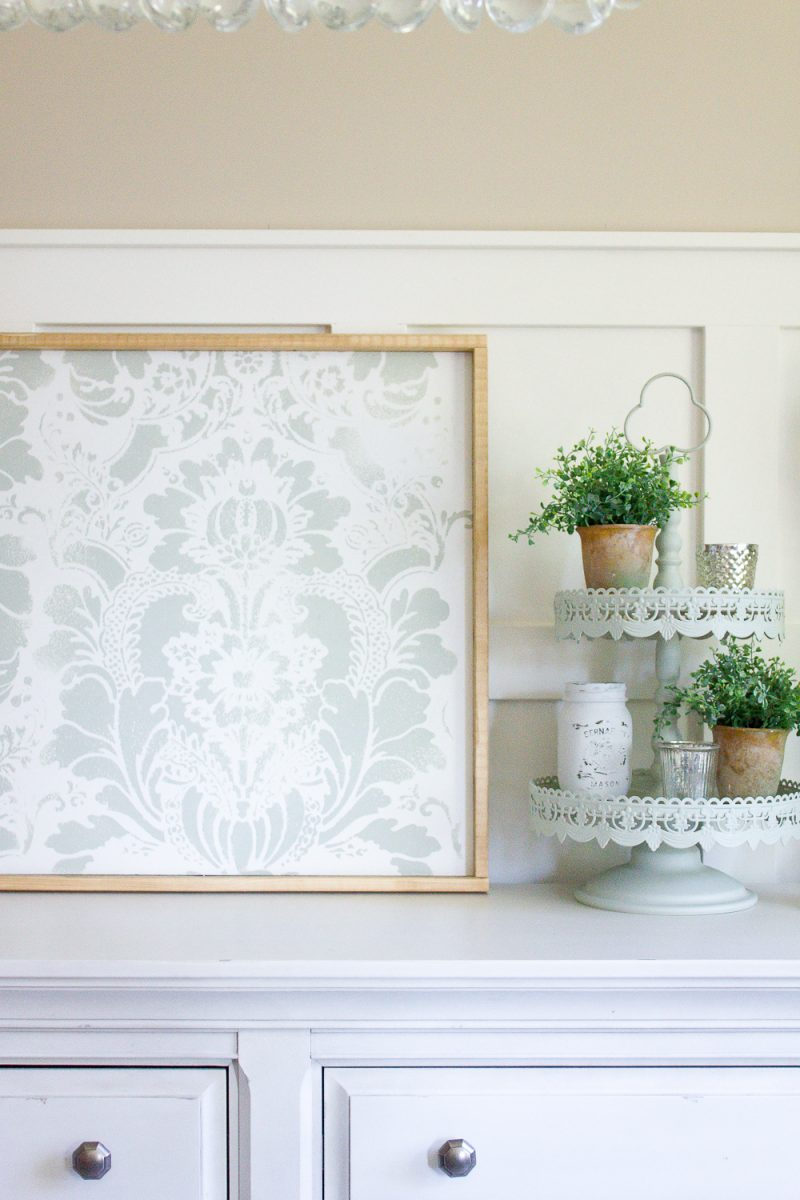 The easiest way to make your own custom artwork, this DIY stencil art was SO simple & inexpensive to make! | www.makingitinthemountains.com