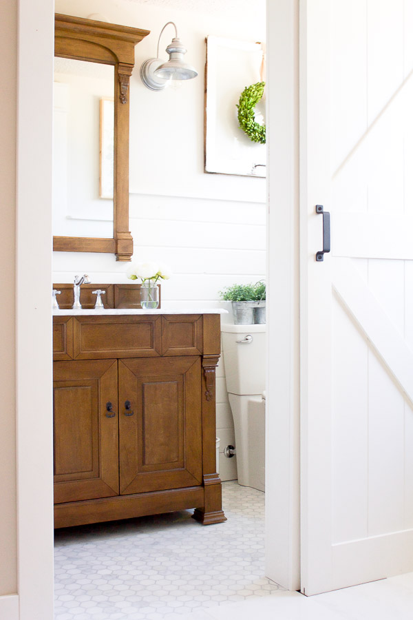One Room Challenge Spring 2017 {Week Six}: Farmhouse Powder Room Reveal