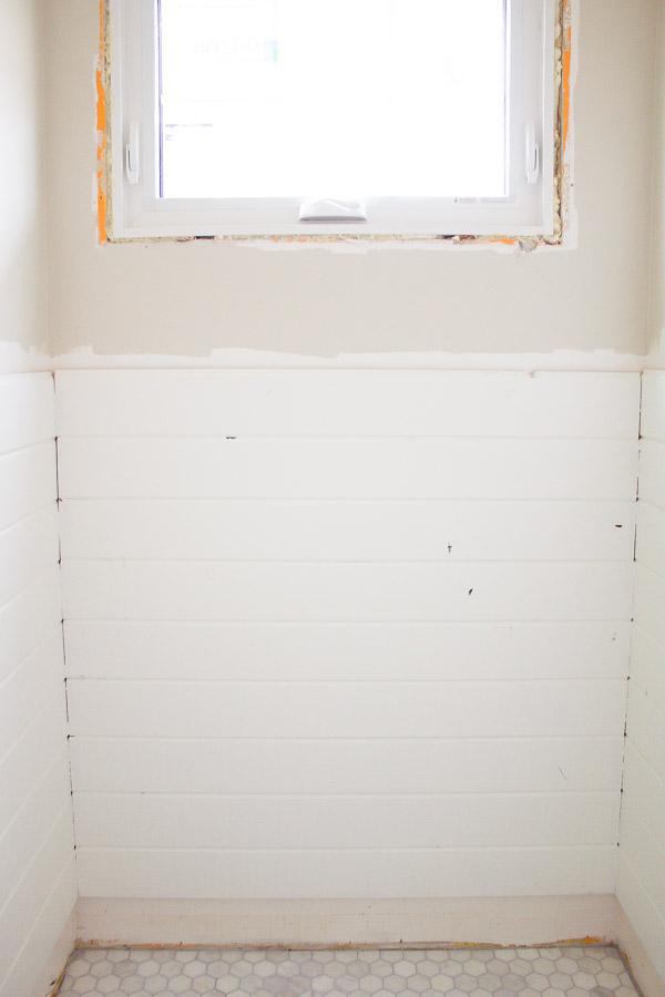 Farmhouse Powder Room Progress
