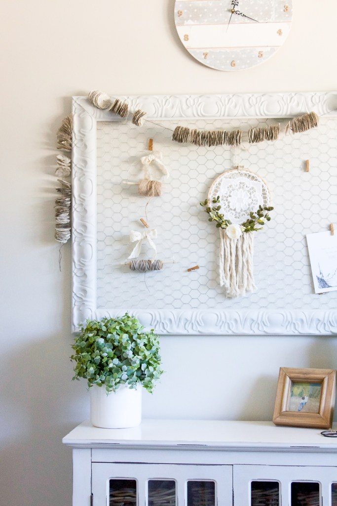 wire memo board by making it in the mountains