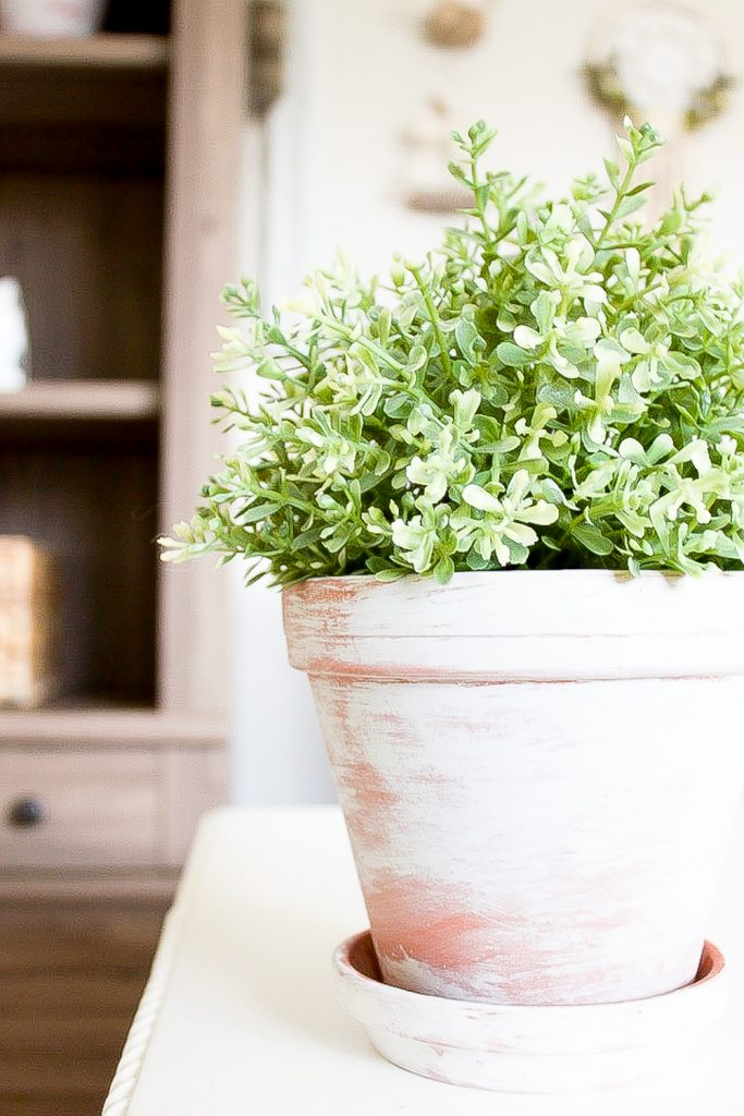 Farmhouse home simple vintage inspired whitewash flower pots these diy whitewash flower pots are the perfect way to bring a bit of vintage charm mightylinksfo