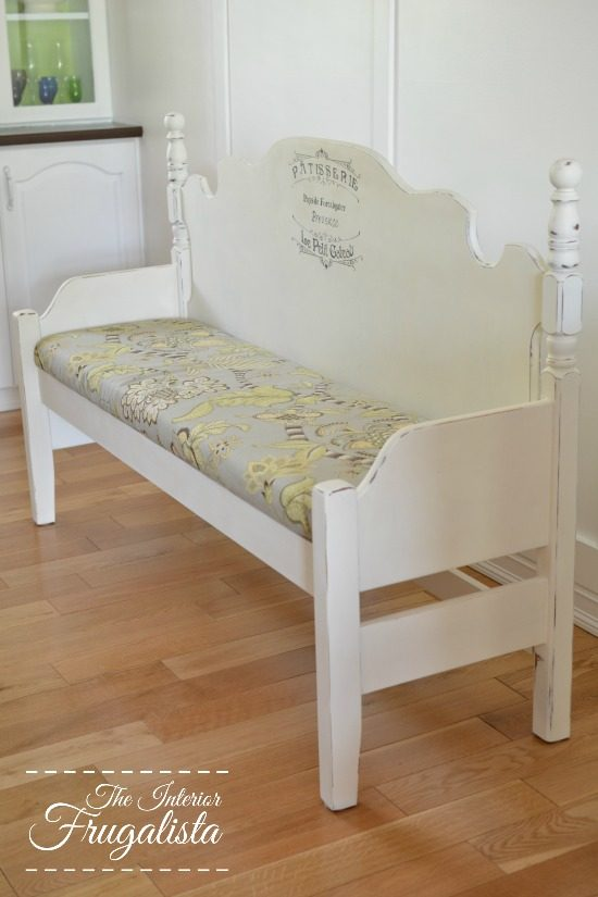 DIY Dining Bench from a Headboard