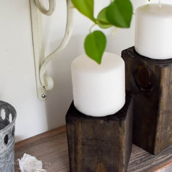 Learn how to make the easiest wooden candle holders in an afternoon!