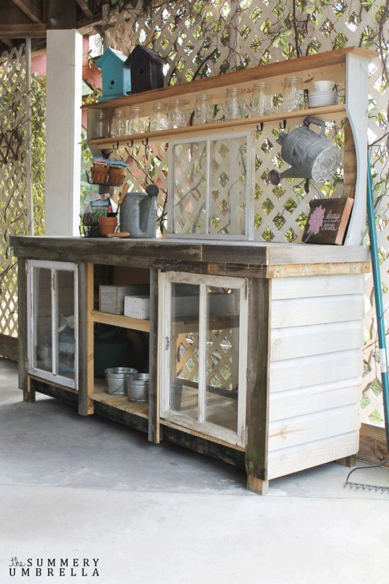 12 Diy Potting Benches With Farmhouse Style Making It In The Mountains