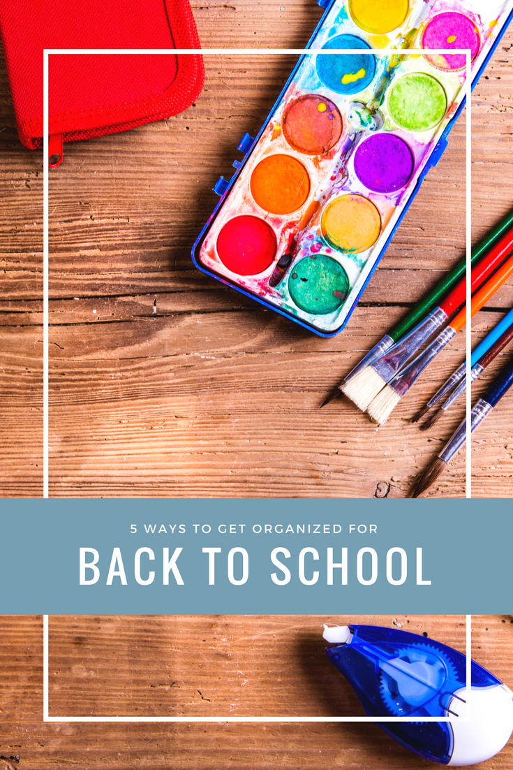 5 Simple Ways to Get Organized for Back to School | www.makingitinthemountains.com