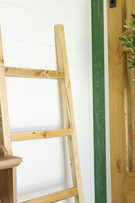 Ladders are my very favourite way to store blankets - they're not just a beautiful display, but a such a great way to have your favourite blankets at the ready! This DIY blanket ladder was so inexpensive to make and takes just 30 minutes to build!