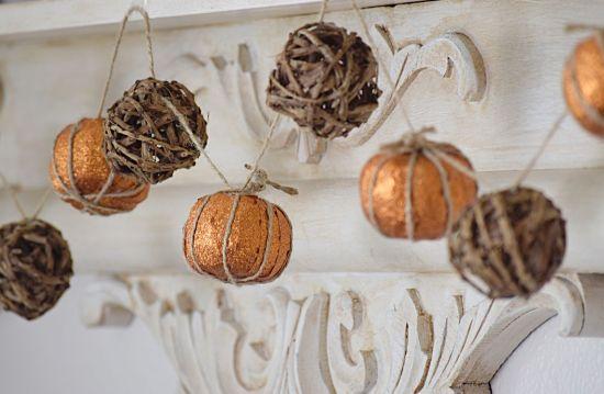 How to Make a Faux Pumpkin Garland
