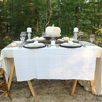 Outdoor Farmhouse Fall Tablescape