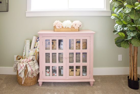 Making It In The Mountains Pink Cabinet Makeover