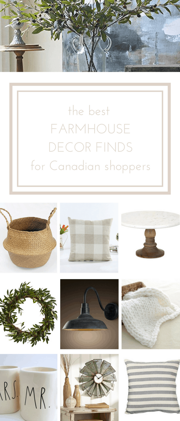 My favourite farmhouse decor finds for online shoppers in Canada... www.makingitinthemountains.com