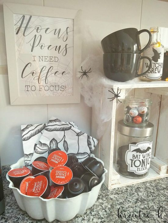 Halloween Coffee Station