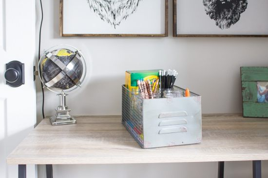 This portable homework station is the perfect way to keep all those school supplies organized and at the ready when your little one brings home that backpack full of homework...