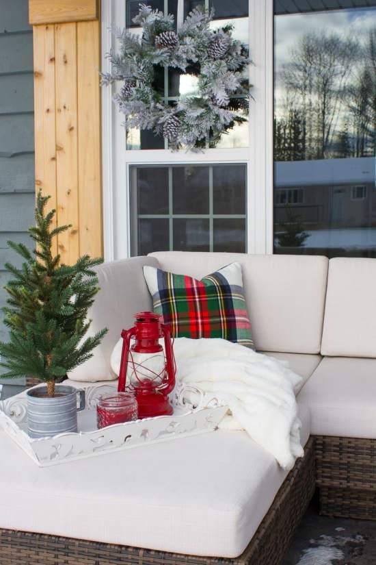 Farmhouse Christmas Porch