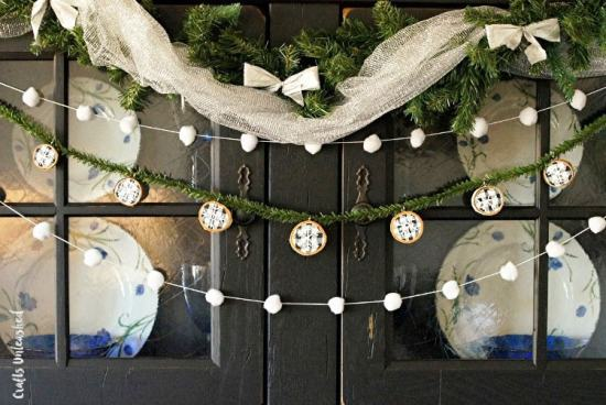 Winter Wood Slice Garland