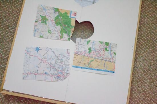 DIY Map Heart Art
