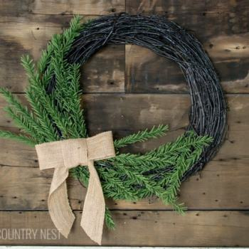 DIY simple winter wreath