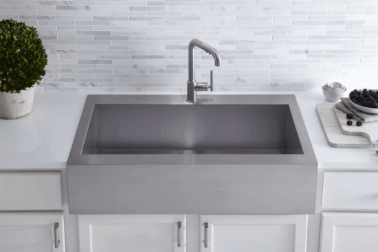 Modern Stainless Steel Apron Front Sink