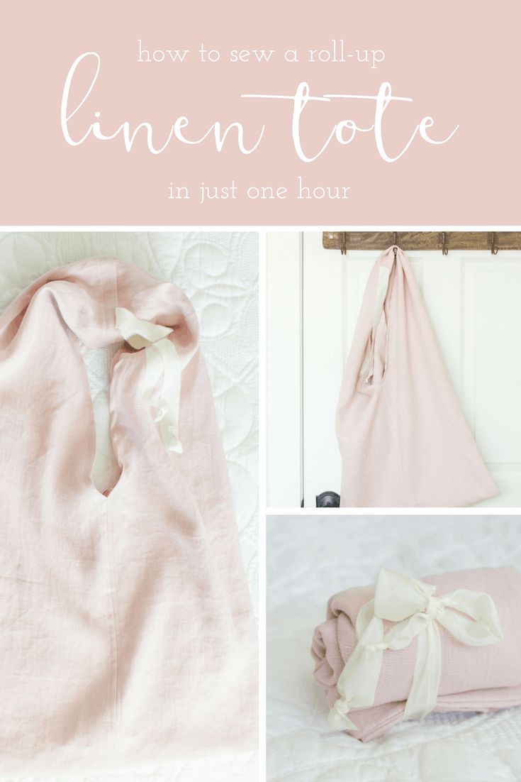 how to sew a linen tote