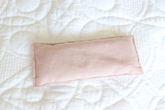 pink linen, lavender sachet