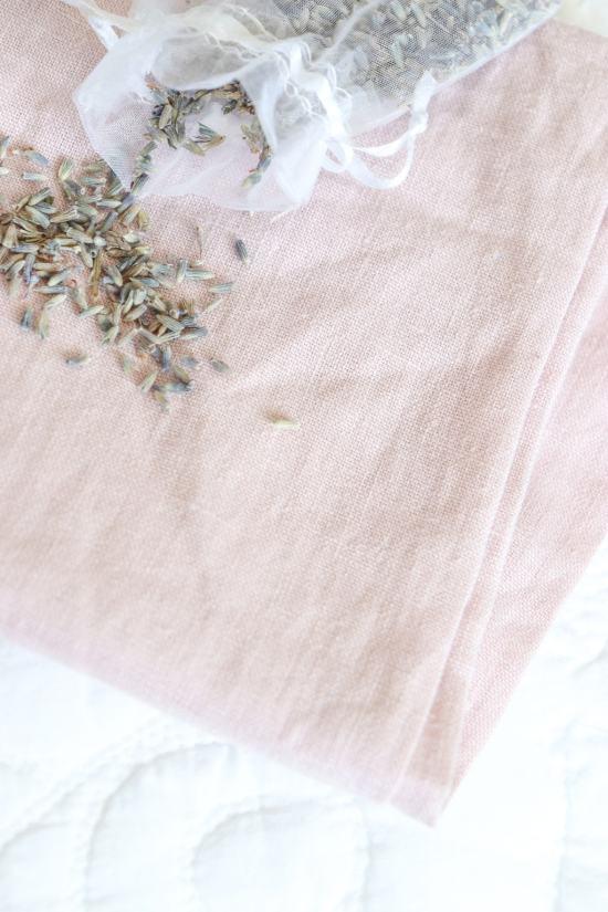 linen fabric, lavender