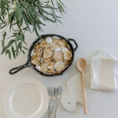 Apple Spice Skillet Cake Recipe