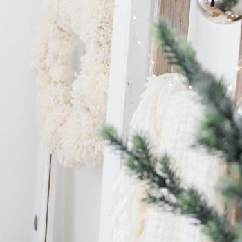 Neutral Farmhouse Christmas Bedroom