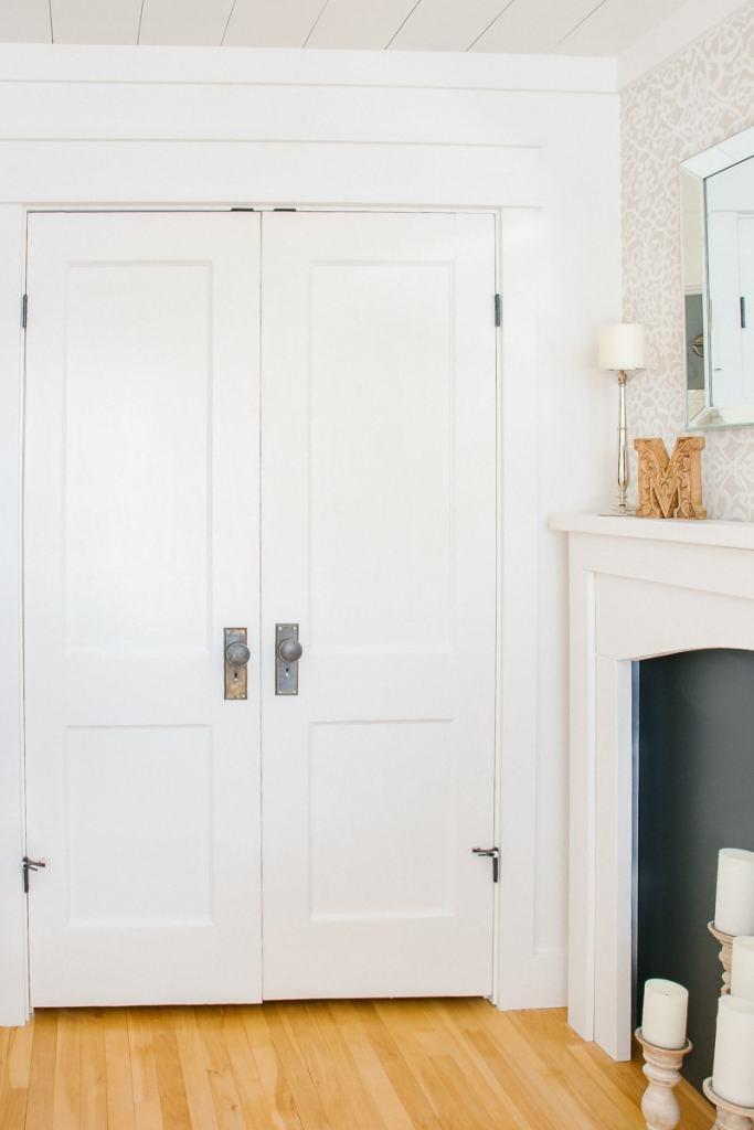 Antique closet doors