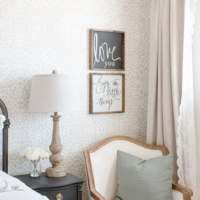 Light + Airy Farmhouse Spring Bedroom Tour