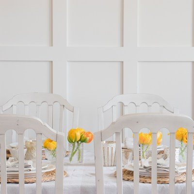 How to Set a Simple Spring Table