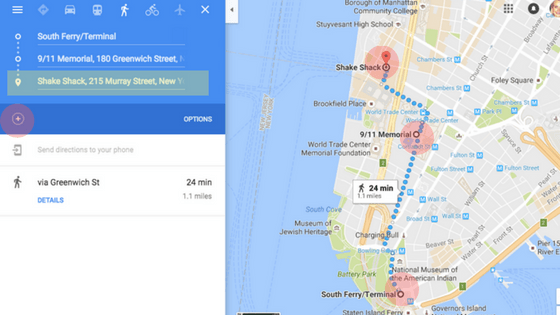 Use Google Maps to map out and add multiple destinations for directions