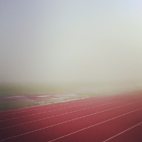Foggy Track Run