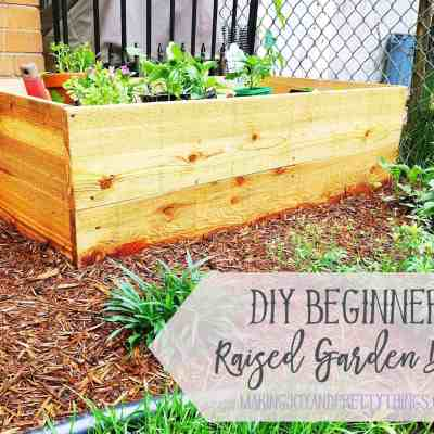 DIY Beginner Raised Garden Bed