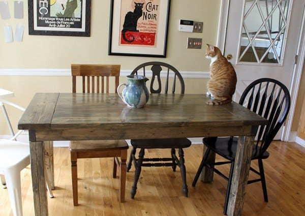 7 DIY Farmhouse Dining Room Tables. All Have Free Downloadable Plans. Build  Your Own