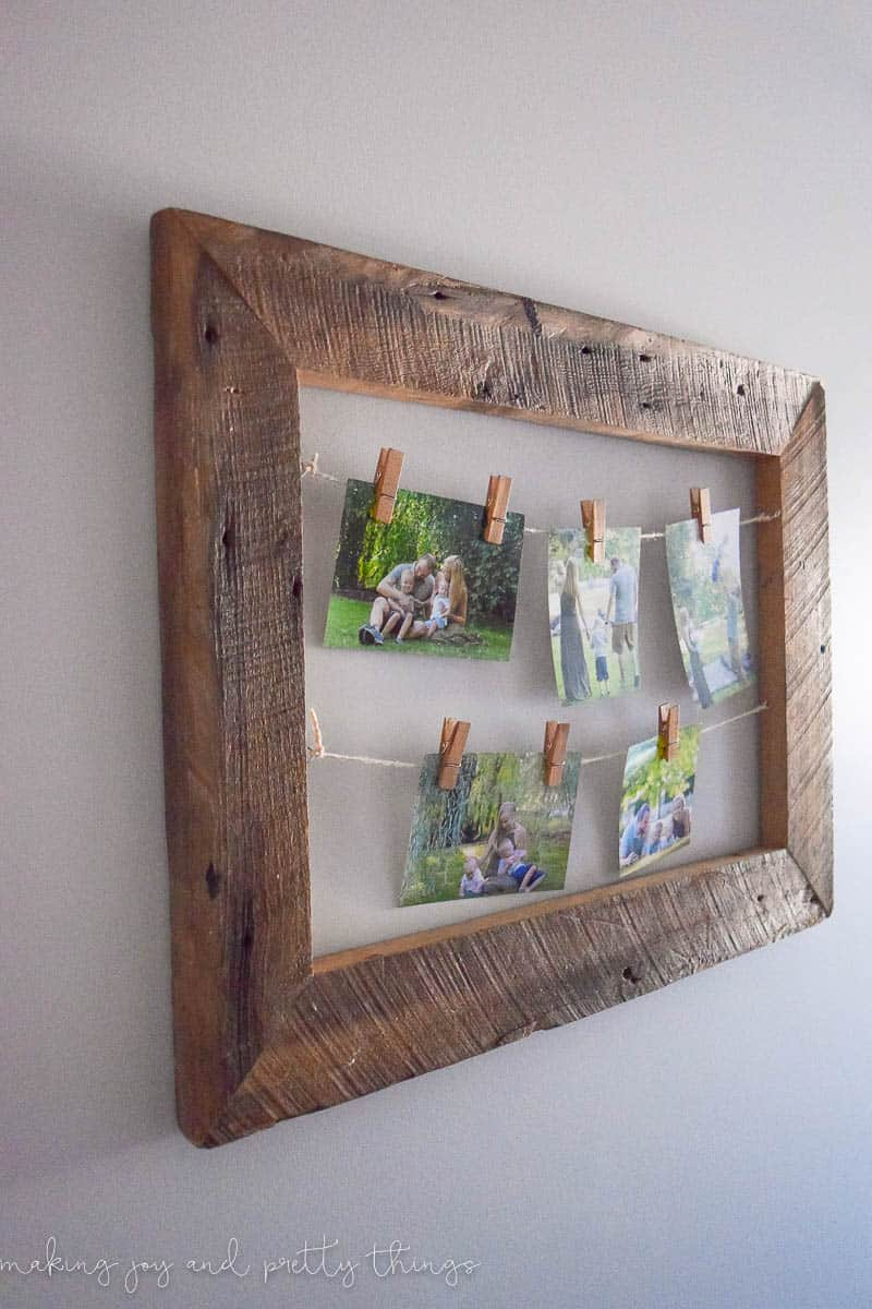 DIY Rustic Photo Display -