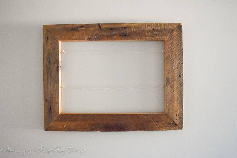 DIY Rustic Photo Display -