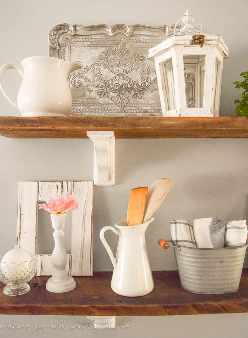 How to style open shelves { in 5 easy steps } . Perfect tips and inspiration to style your own shelves in whatever style you want.