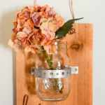Rustic Scrap Wood Hanging Mason Jar