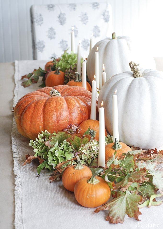 11 Farmhouse Style Fall Centerpieces