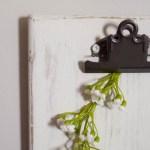 Rustic DIY Clipboards
