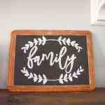Simple Farmhouse Decor: DIY Lettered Chalkboard Sign