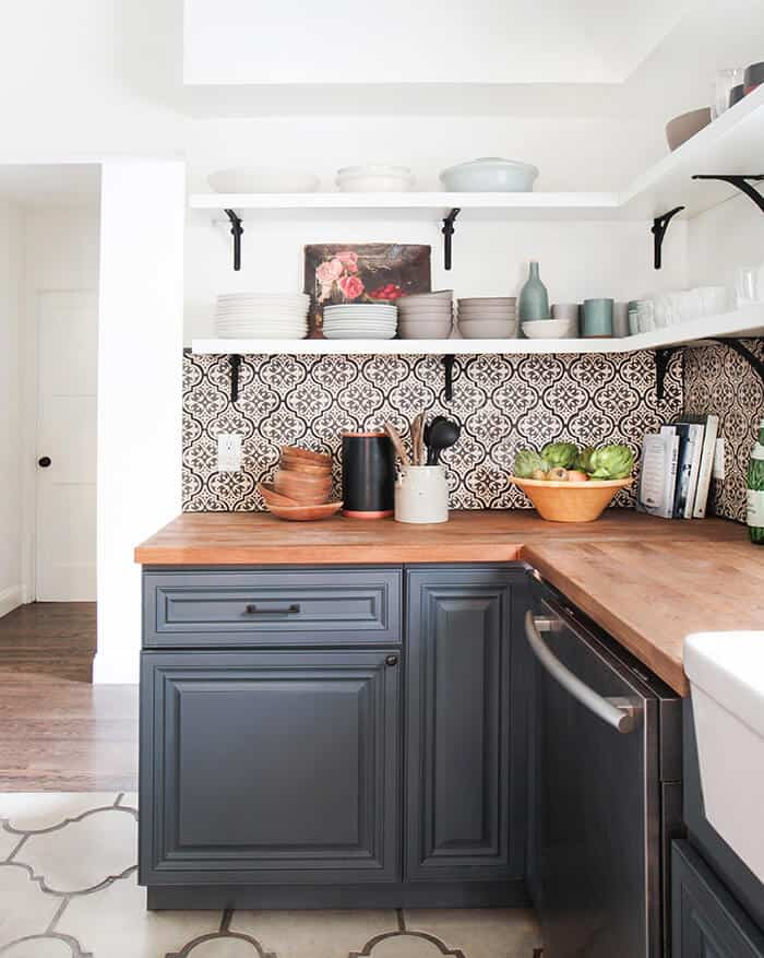 Open Shelving Shelving White Tile Wood Shelves Black: My Favorite Cement Tile And Where To Use It