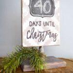 DIY Rustic Christmas Countdown Sign
