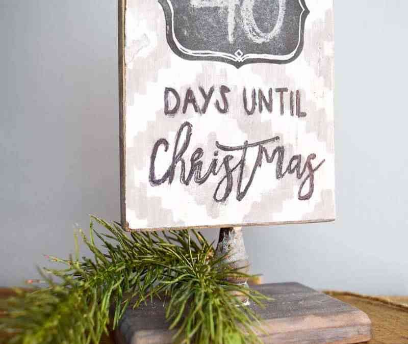 DIY Rustic Christmas Countdown Sign