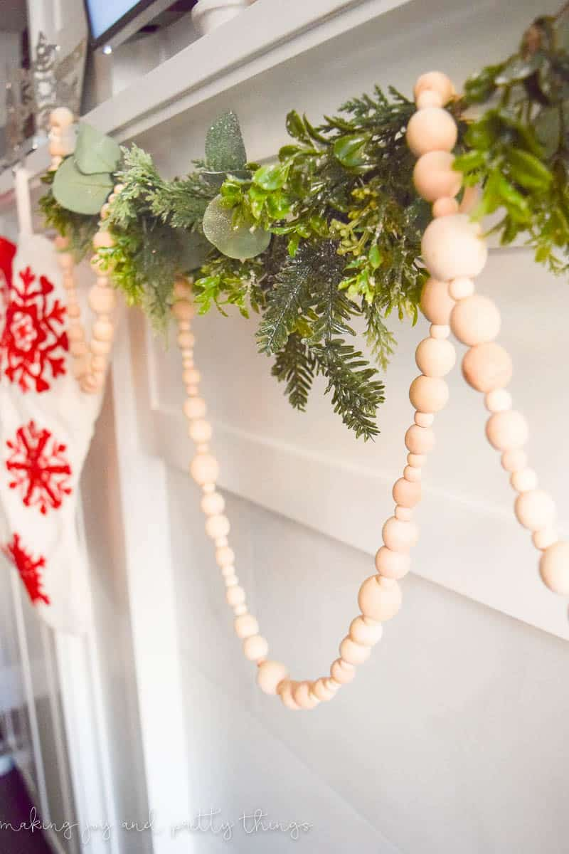 how to make your own wood bead garland simple farmhouse decor diy projects have you started decorating for christmas - Christmas Beaded Garland Decorations