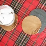1st Day of Craftmas – DIY Personalized Leather Coaster Set