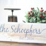 11th Day of Craftmas – Wooden Personalized Sign
