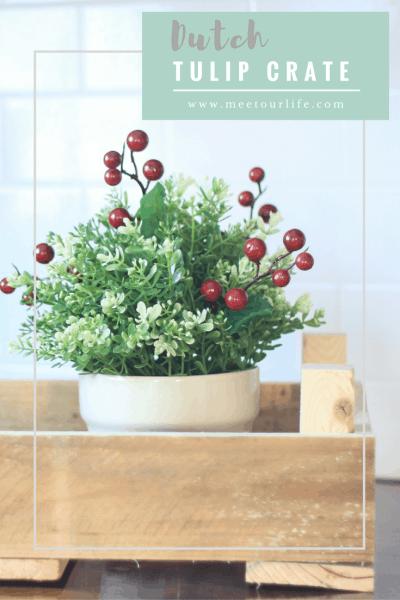 Dutch Tulip Crate - Create your own DIY dutch tulip crate and get the fixer upper look.