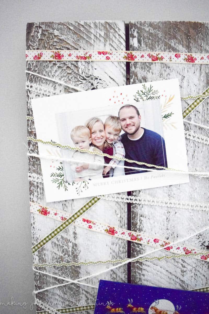 Rustic Shiplap Christmas Card Holder -